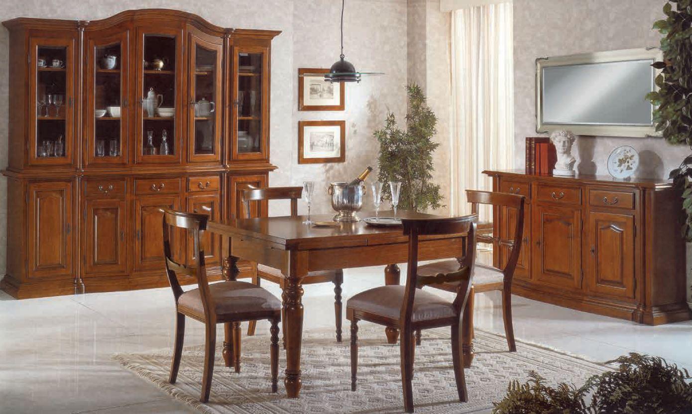 Sala da pranzo classica orecchioni mobili for Arredare sala da pranzo classica